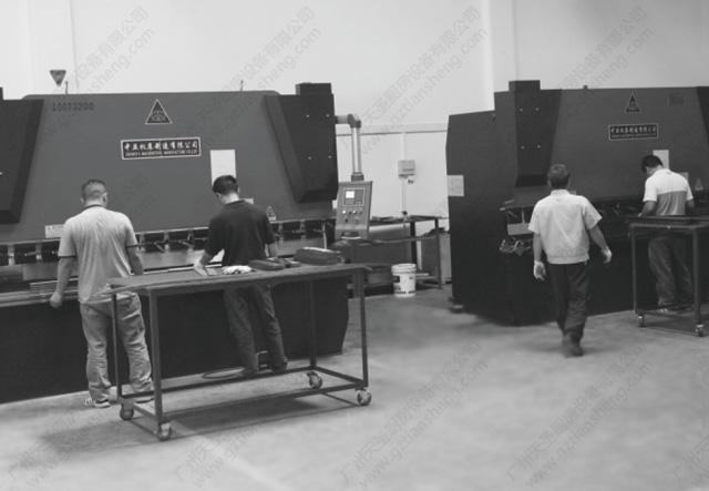 天圣亚博国际网页登录工厂一角,天圣厨房设备公司工厂一角