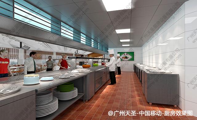 中国移动厨房工程设计效果图1