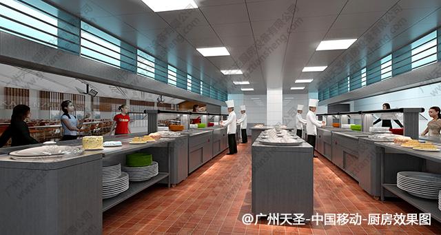 中国移动厨房工程设计效果图2