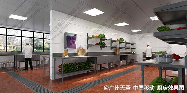 中国移动厨房工程设计效果图3