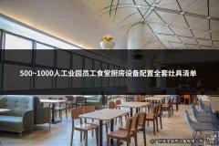 500~1000人工业园员工食堂厨房设备配置全套灶具清单